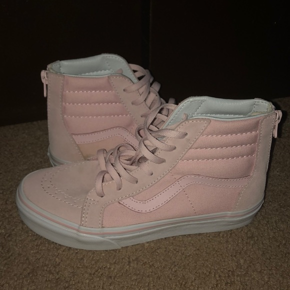Vans Shoes | High Top Light Pink | Poshmark